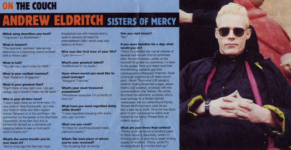 The Sisters Of Mercy Ultimate Resource Guide Transcribed